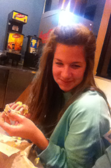 Samantha and her Doba.